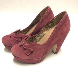 Anthropologie Shoes - Anthropologie Seychelles suede dust pink heel 6